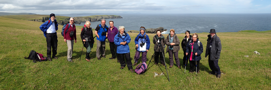 Walking group on Fetlar